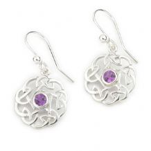 Celtic Amethyst Set Earrings